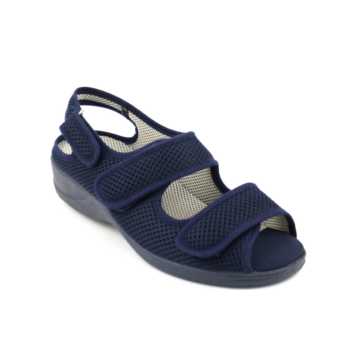 21821 Sandalia Cutillas Horma Ancha Doctor Velcros Plantilla Foam wmvN80n